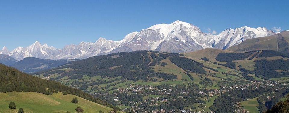 Camping avec vue Mont-Blanc