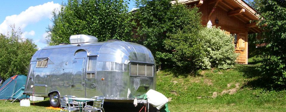 Emplacement caravane et camping car en pleine nature